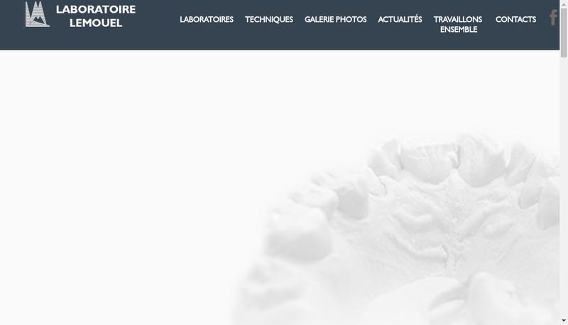 Capture d'écran du site de Laboratoire Prothese Dentaire Lemouel