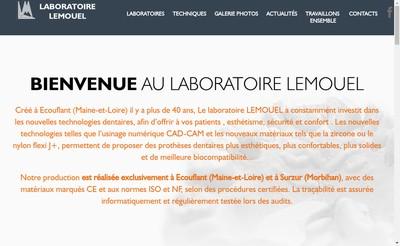 Site internet de Laboratoire Prothese Dentaire Lemouel