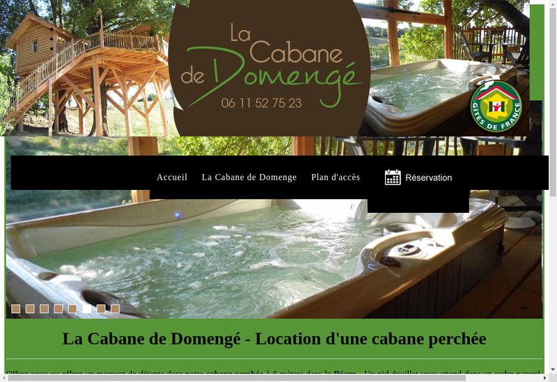 Capture d'écran du site de La Cabane de Domenge