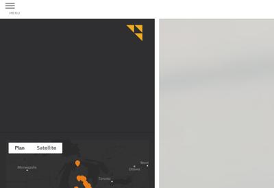 Capture d'écran du site de K2M Concept