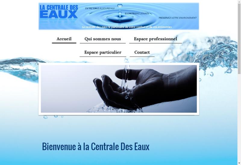 Capture d'écran du site de La Centrale des Eaux