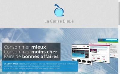 Site internet de La Cerise Bleue