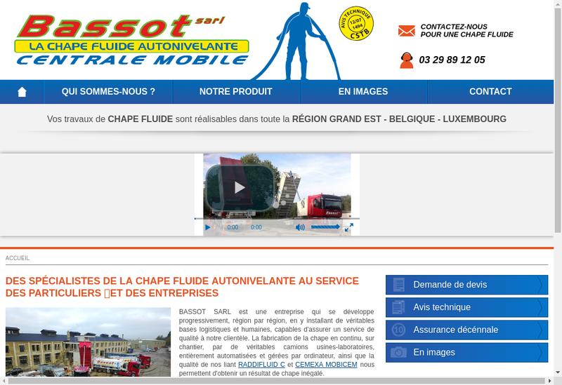 Capture d'écran du site de Bassot