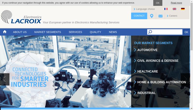 Capture d'écran du site de Lacroix Electronics