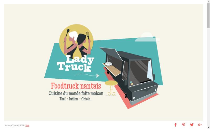 Capture d'écran du site de Lady Truck