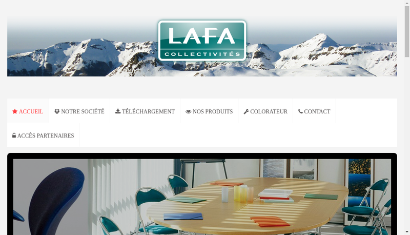 Capture d'écran du site de Lafa Collectivites