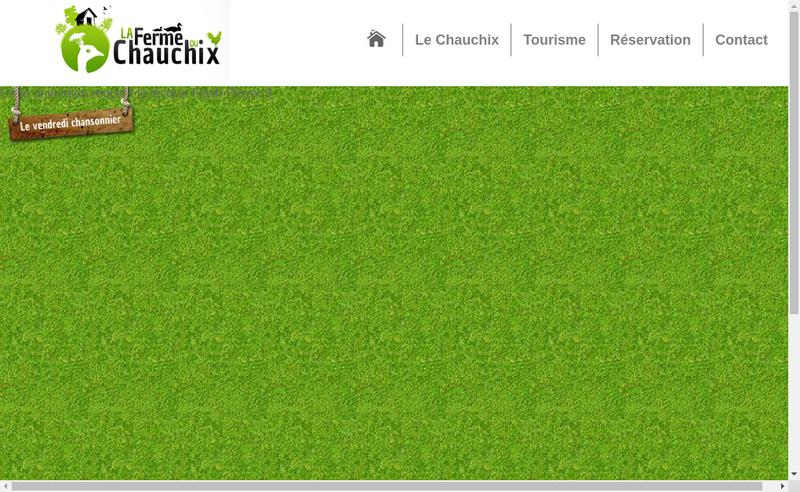 Capture d'écran du site de La Ferme du Chauchix