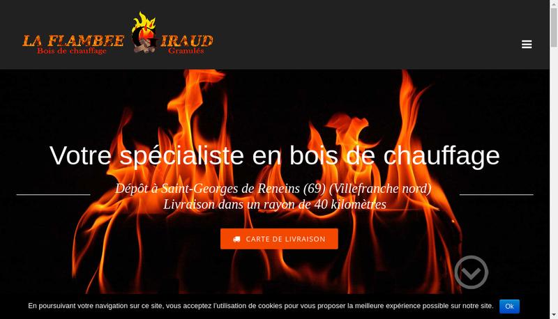 Capture d'écran du site de La Flambee Giraud