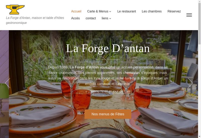 Capture d'écran du site de La Forge d'Antan