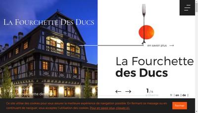 Site internet de La Fourchette des Ducs