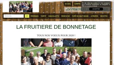 Site internet de EURL la Fruitiere de Bonnetage