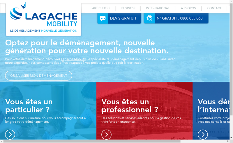 Capture d'écran du site de Alain Lagache