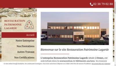 Site internet de Restauration Patrimoine Lagarde