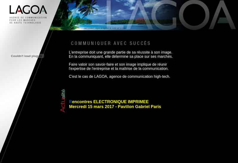 Capture d'écran du site de Lagoa