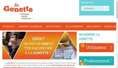 Site internet de Monnaie Locale Citoyenne - la Gonette
