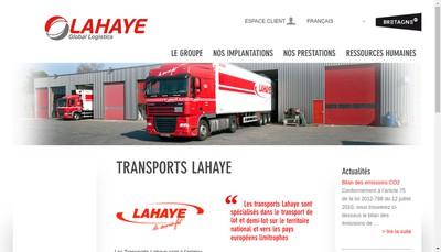 Site internet de Transports Lahaye