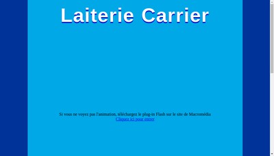 Site internet de Laiterie Carrier