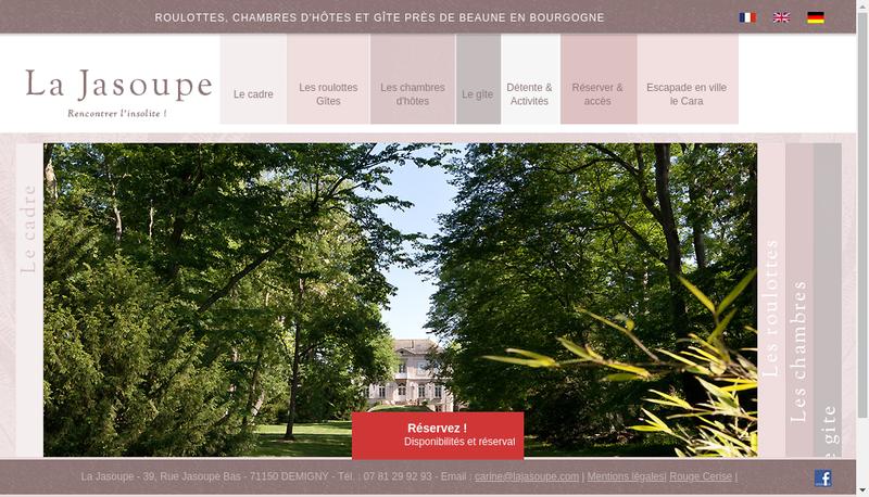 Capture d'écran du site de La Jasoupe