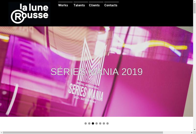 Capture d'écran du site de Editions Productions de la Lune Rousse