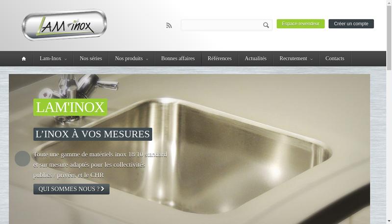 Capture d'écran du site de SARL Lam Inox