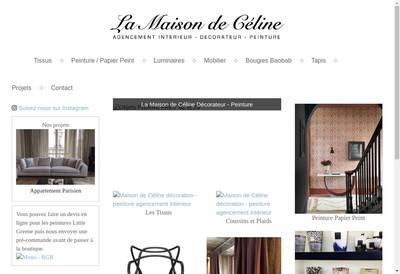 Site internet de La Maison de Celine