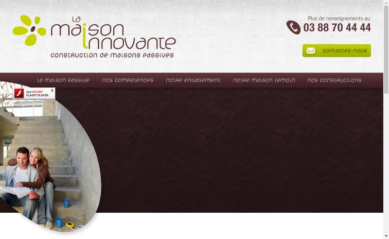 Capture d'écran du site de La Maison Innovante