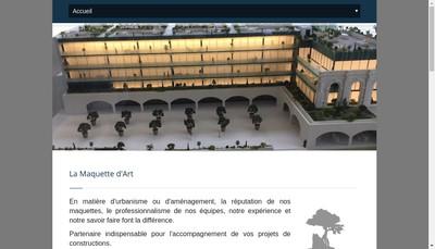 Site internet de La Maquette d'Art