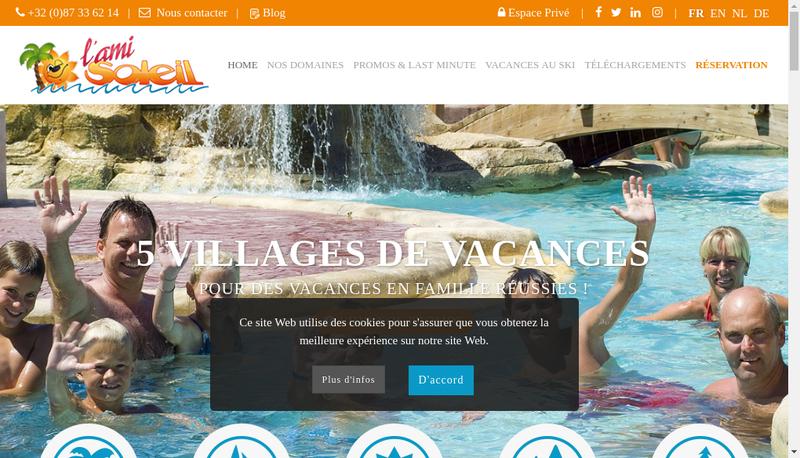 Capture d'écran du site de L'Ami Soleil