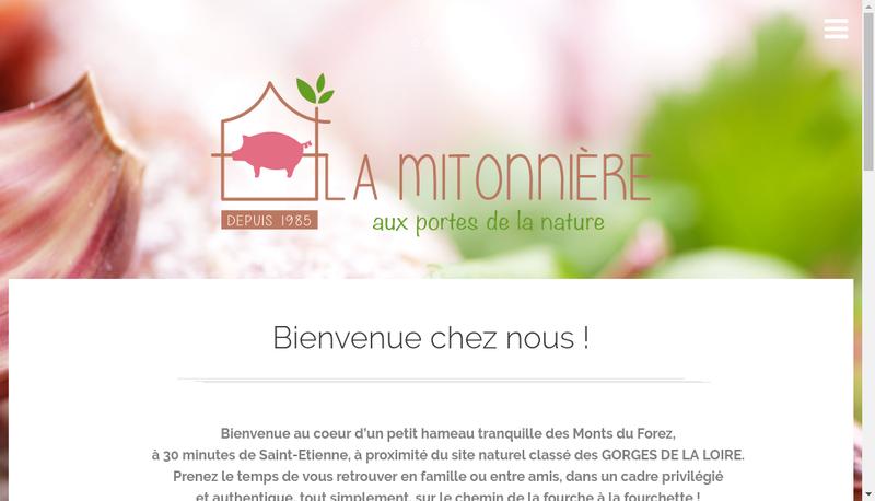 Capture d'écran du site de La Mitonniere