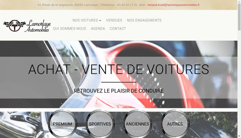 Capture d'écran du site de Lamorlaye Automobiles