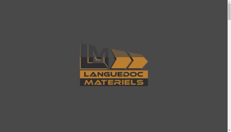 Capture d'écran du site de Languedoc Materiels