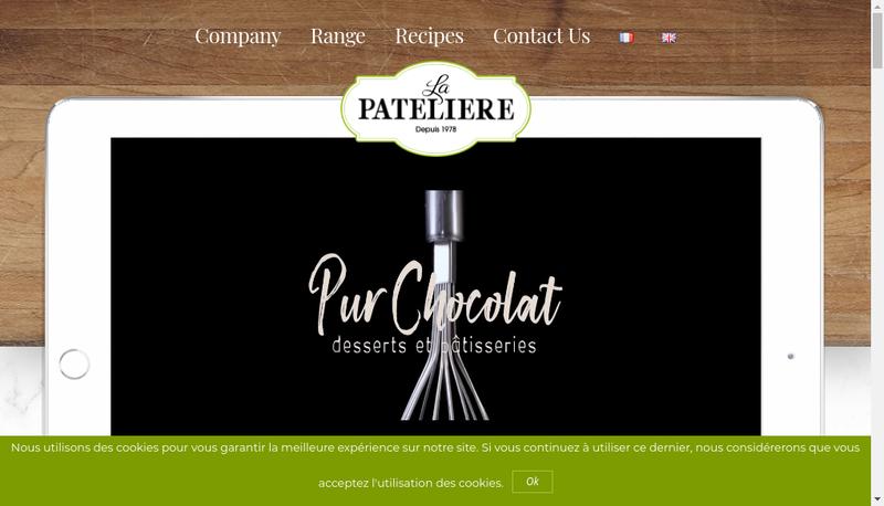 Capture d'écran du site de La Pateliere