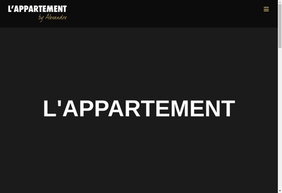 Site internet de L'Appartement By Alexandre