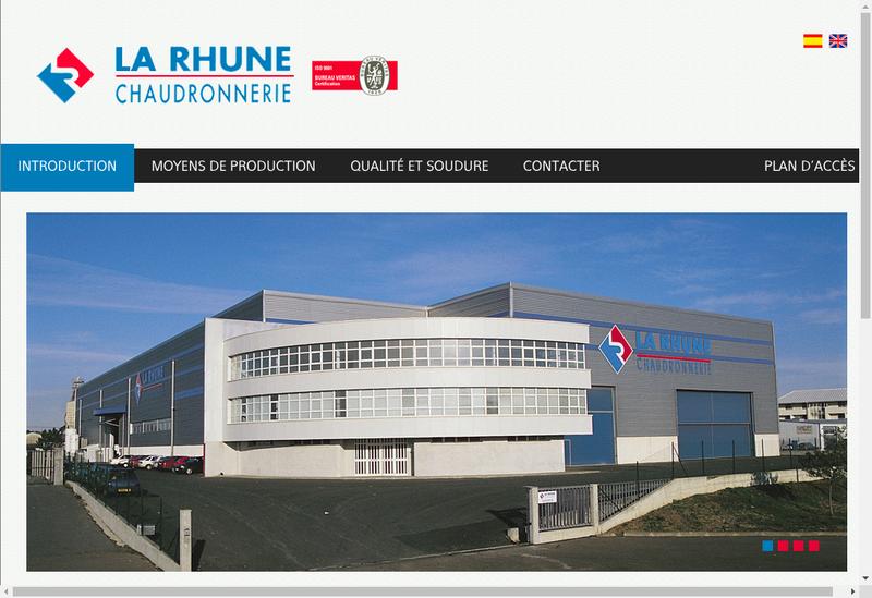 Capture d'écran du site de Chaudronnerie de la Rhune