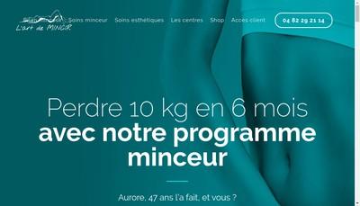 Site internet de L'Art de Mincir