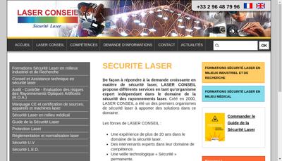 Capture d'écran du site de Laser Conseil