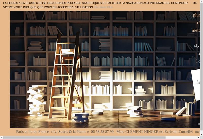 Capture d'écran du site de Marc Clement
