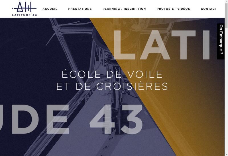 Capture d'écran du site de Latitude 43