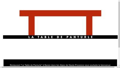 Site internet de La Table de Panturle