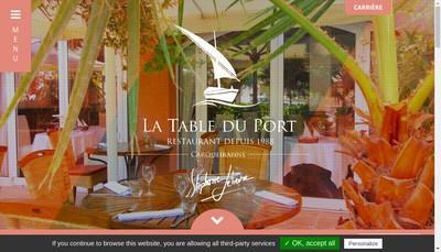 Site internet de La Table du Port