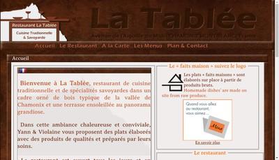 Site internet de La Tablee