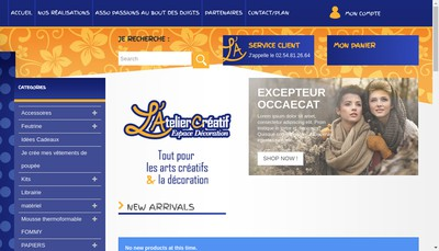 Site internet de L'Atelier Creatif