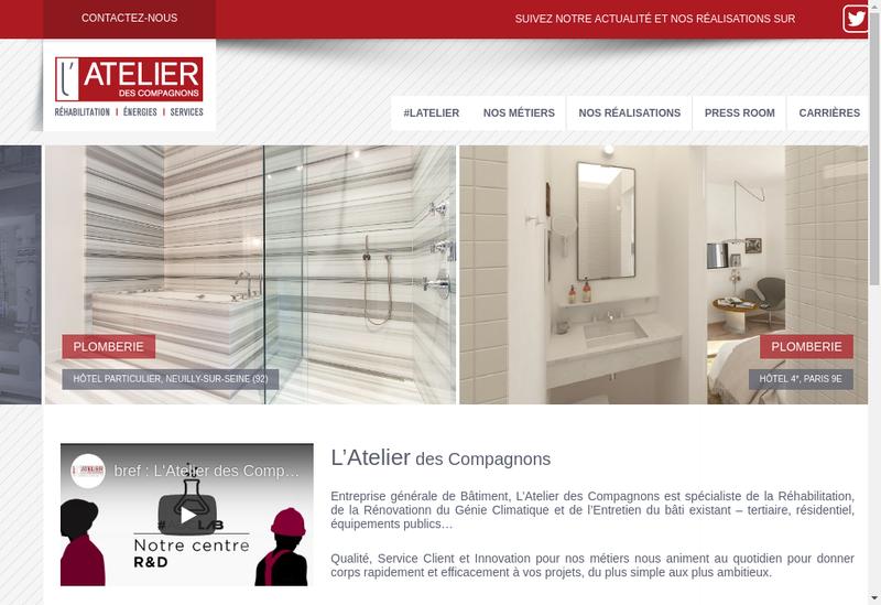 Capture d'écran du site de L'Atelier des Compagnons/Chriselec/L'I