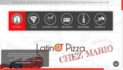 Site internet de Latino Pizza