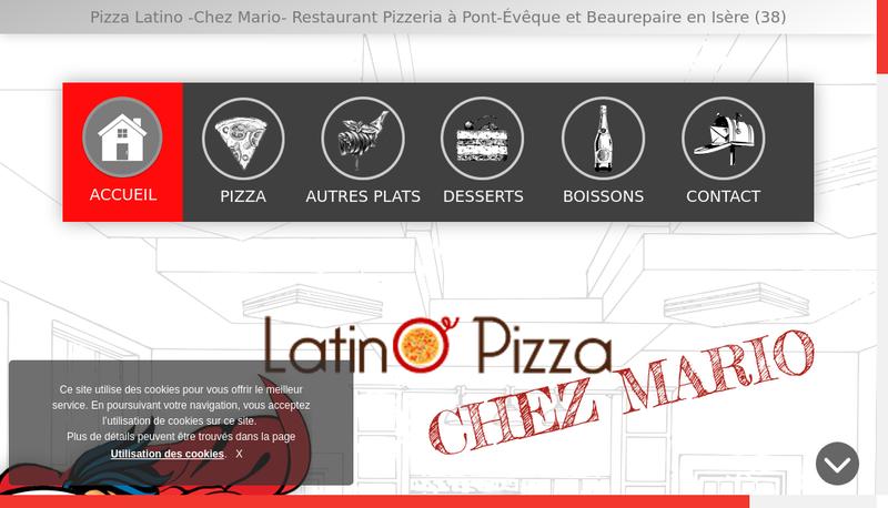 Capture d'écran du site de Latino Pizza