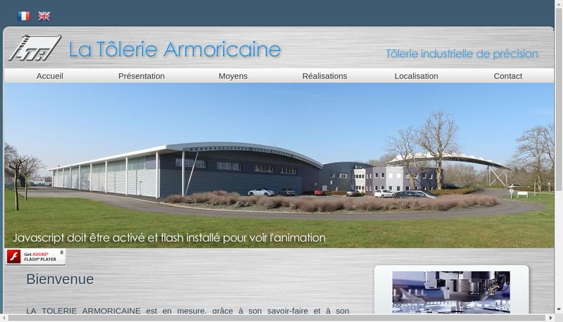 Capture d'écran du site de La Tolerie Armoricaine