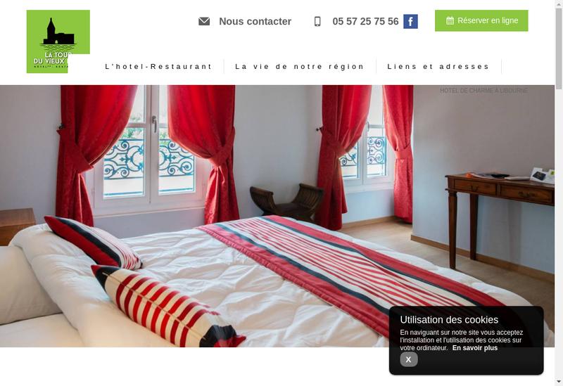 Capture d'écran du site de La Tour du Vieux Port