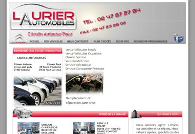 Capture d'écran du site de Citroen Amboise