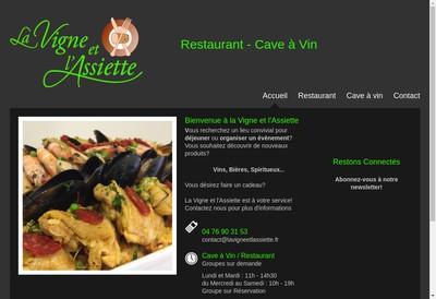 Site internet de La Vigne et l'Assiette