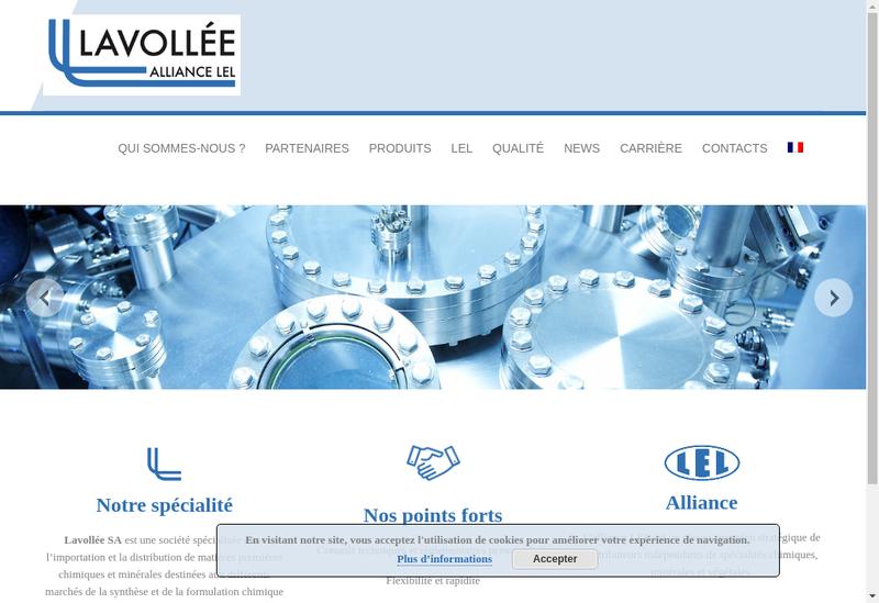 Capture d'écran du site de Lavollee Chimie